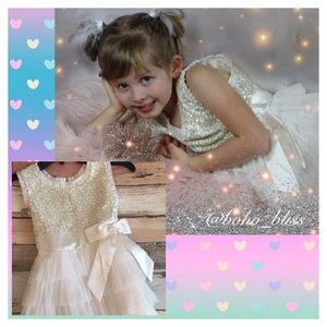 JONA MICHELLE | Girls Sequin Ruffle Tulle Dress
